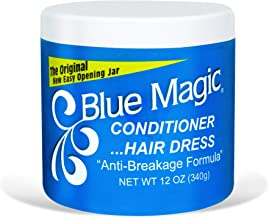 Blue Magic Conditioner Hairdress 12 Ounce Jar (354ml) (3 Pack)