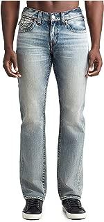 True Religion Men's Straight Jeans w/Flap Pockets in Secret Forest