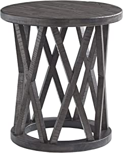 Signature Design by Ashley - Sharzane Round End Table, Grayish Brown