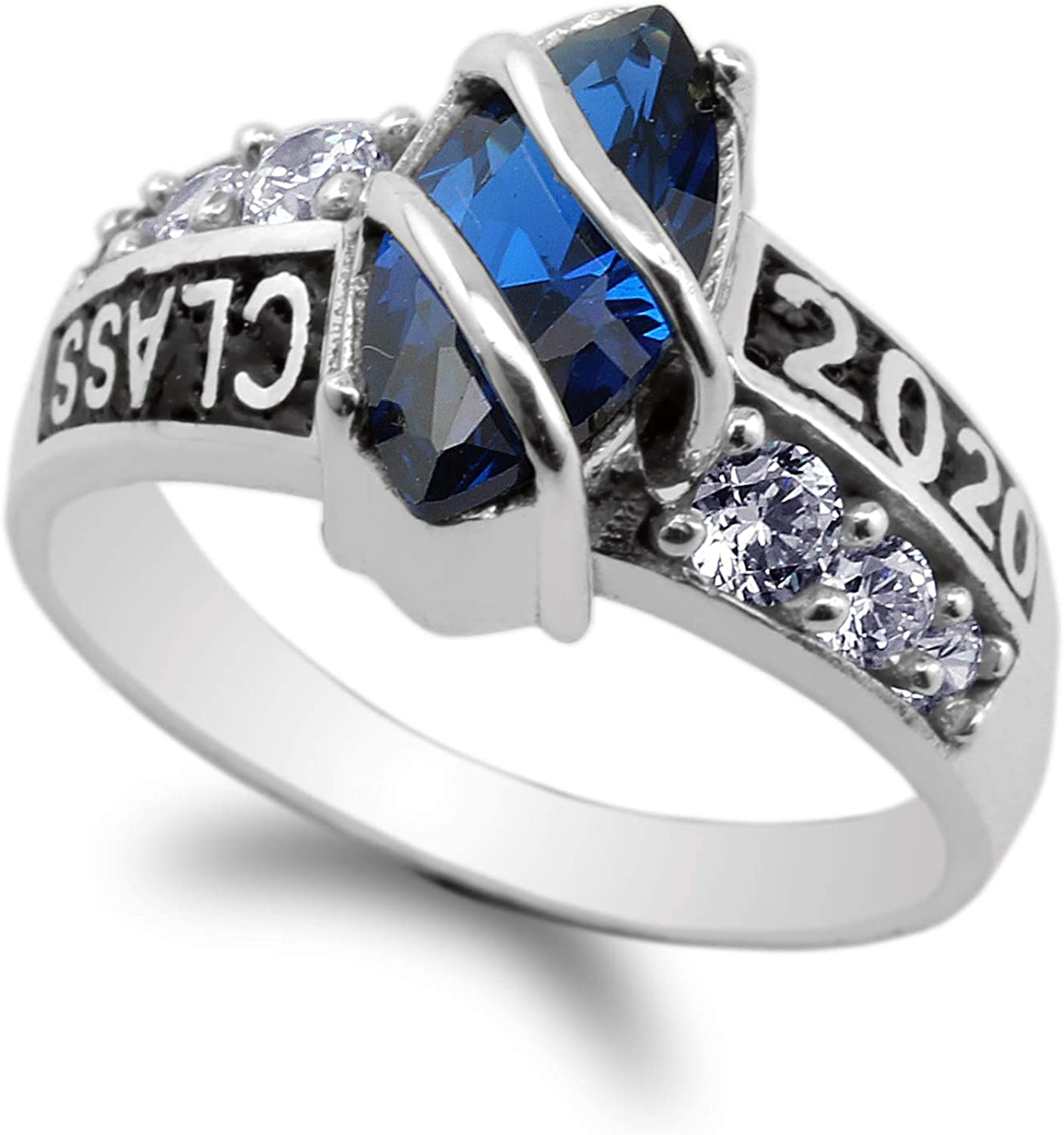 925 Sterling Silver Class of Marquise Sapphire Blue 1.25ct Max 80% OFF 2020 Cheap bargain