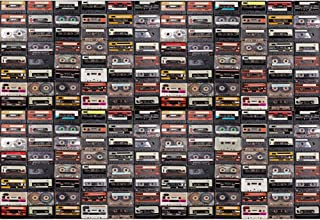 YongFoto 10x7ft Vintage Tape Wall Backdrop Discotheque Photography Background Retro Style Club Cassette Tape Music Disco Theme Party Decor Man Woman Adult Portrait Photo Booth Studio Props Wallpaper