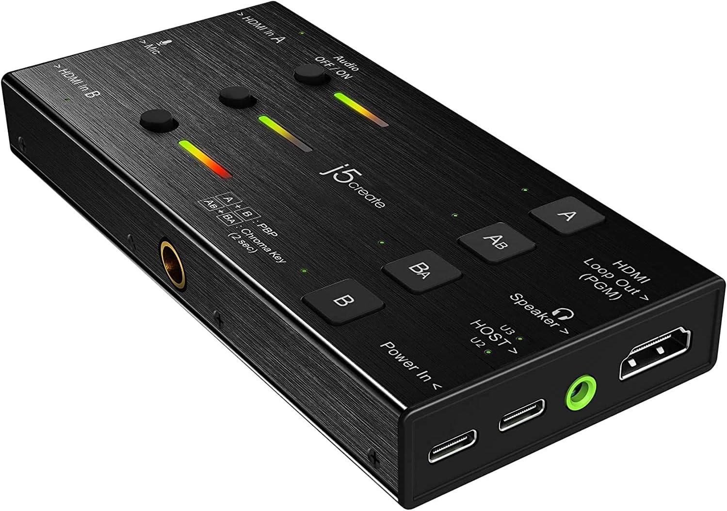 j5create Live security Video Capture Card JVA06- Sale to USB-C Supp Dual HDMI