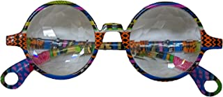 Izgut Sparkling John Lennon's Kaleidoscope Glasses with Transparent Lenses