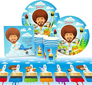 Bob Ross and Friends Party Supplies (Value) Birthday Party Pack, 37 Piece Set, by Prime Party
