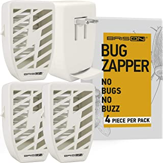 Indoor Plug-in Bug Zapper - Power Portable Home Electric Insect Trap - Odorless Noiseless for Removes Flies Mosquitos Gnats Moth and Bugs (4 Packs)