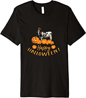 Happy Halloween Holstein Cow T-Shirt for Cow Lovers