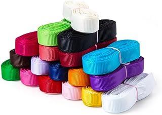 HABI HABI Grosgrain mehrfarbig Bändern Geschenk Bänder 40 Meter DIY 18 Farben und verschiedene Breite . Jede Farbe Set ca 3 Meter