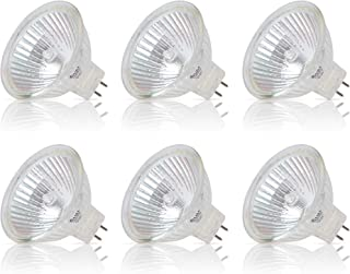 Simba Lighting Halogen MR16 20W 12V Light Bulbs (6 Pack) for Landscape, Track Lights, Fiber Optics, Desk Lamps, BAB C Spotlights with Glass Cover, GU5.3 Bi Pin Base, 2700K Warm White Dimmable