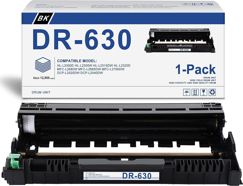 [Black,1-Pack] Compatible DR-630 Drum Unit Replacement for Brother HL-L2300D HL-L2305W HL-L2315DW HL-L2320D HL-L2340DW HL-L2360DW HL-L2380DW Printer