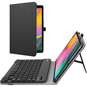DURAGADGET Black PU Leather French AZERTY Keyboard Case w//Stand + Micro USB Cable SM-T520//SM-T525 Compatible with Samsung Galaxy Tab Pro 10.1