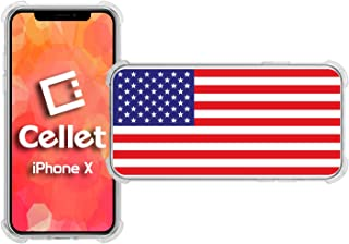 Cellet TPU / PC Proguard Case with American Flag for Apple iPhone X