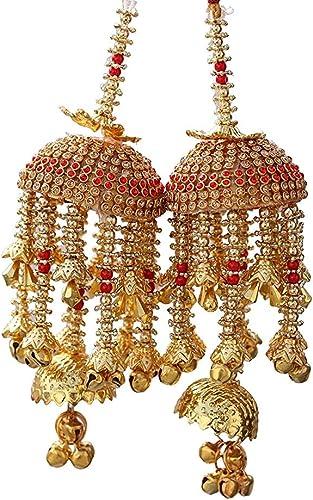 Geetanjali Handmade Traditional Wedding Kalira/kalere/kaleera/Bridal Hand Hanging Kalira Set of 2(Pair) for Brides, W...