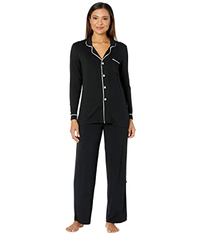 Kickee Pants Collared Pajama Set (Midnight/Natural) Women