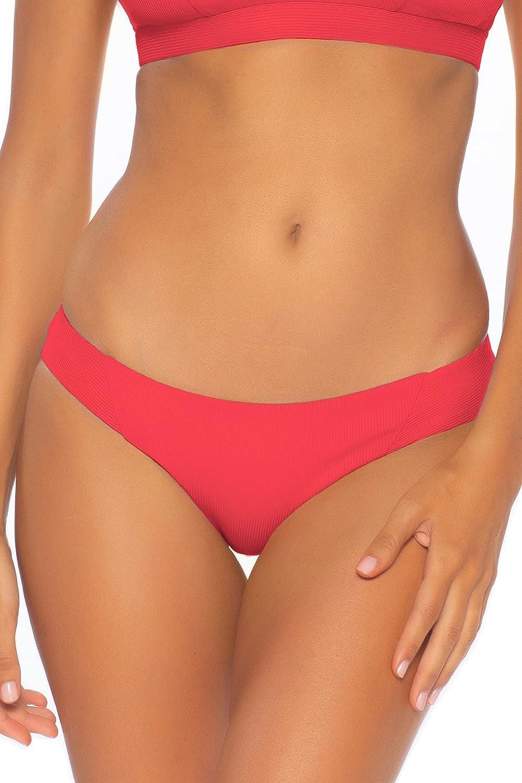 Becca by Rebecca Virtue Women's Fine Line Ribbed American Hipster Bikini Bottom