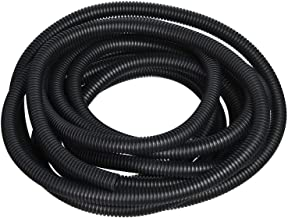 YXQ 12mm ID Corrugated Tubing Tube PE Plastic Non-Split Bellows Pipe Black Preservative Electric Conduit Liquid Wire Loom Cable Cover Sleeve(11M Length)