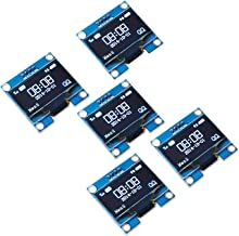 PEMENOL 5PCS OLED Display Module 0.96 Inch I2C IIC Serial 128 x 64 OLED LCD Display Module with SSD1306 Driver for Arduino...