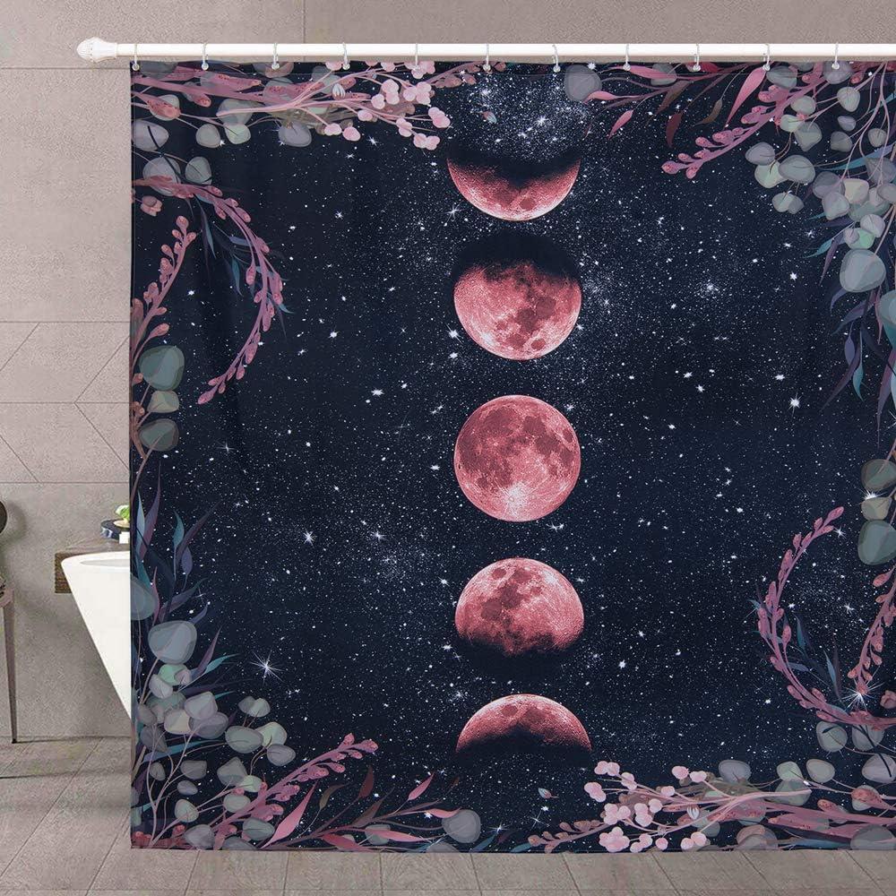 Moonlit Cheap SALE Start Garden Fabric Shower Curtain Black Inch Boh 84 Inexpensive RoomTalks
