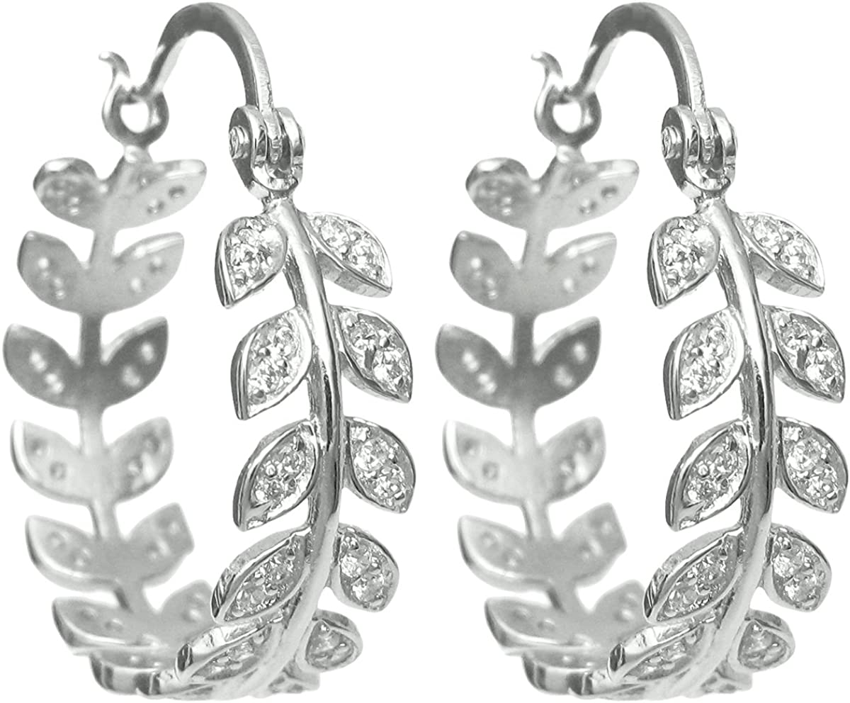 Dreambell Rhodium On National uniform free shipping 925 Sterling Silver Olive Cz Clear Crystal Challenge the lowest price