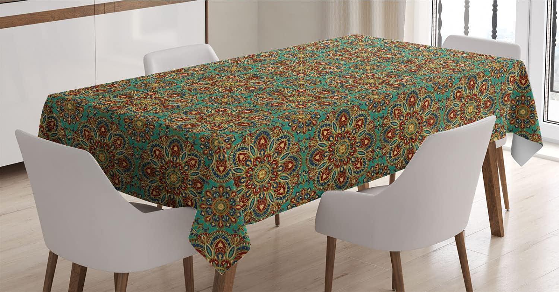 Houston Mall Lunarable Oriental Tablecloth Mandala Pattern with Desig Translated Mosaic