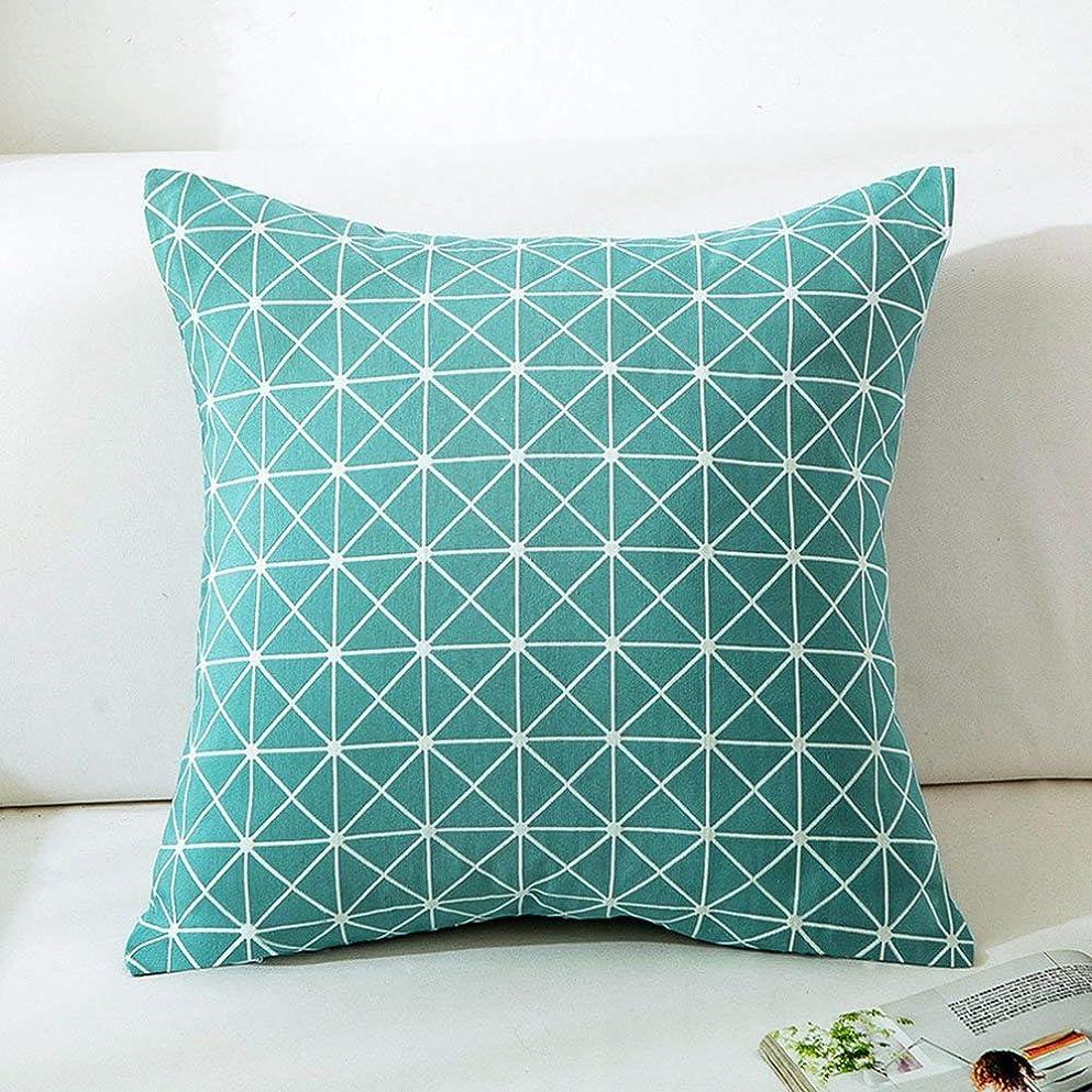進む喪優先権18-AnyzhanTrade 枕カバースクエアコットンソファチェアリビングルームの寝室車ウエスト枕 (Color : Style 3)