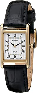 Seiko Women's Leather Strap Solar Dress Watch