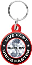 1.5 Diameter Shelby American Cobra Snake Keychain Made in The USA Officialy Licensed Shelby Product Shelby Round Logo on Front and Back Heavy Duty Stainless Steel Construction