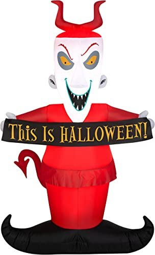 new arrival Gemmy online 5' Halloween Inflatable Lock Holding A Halloween lowest Sign Indoor/Outdoor Decoration online
