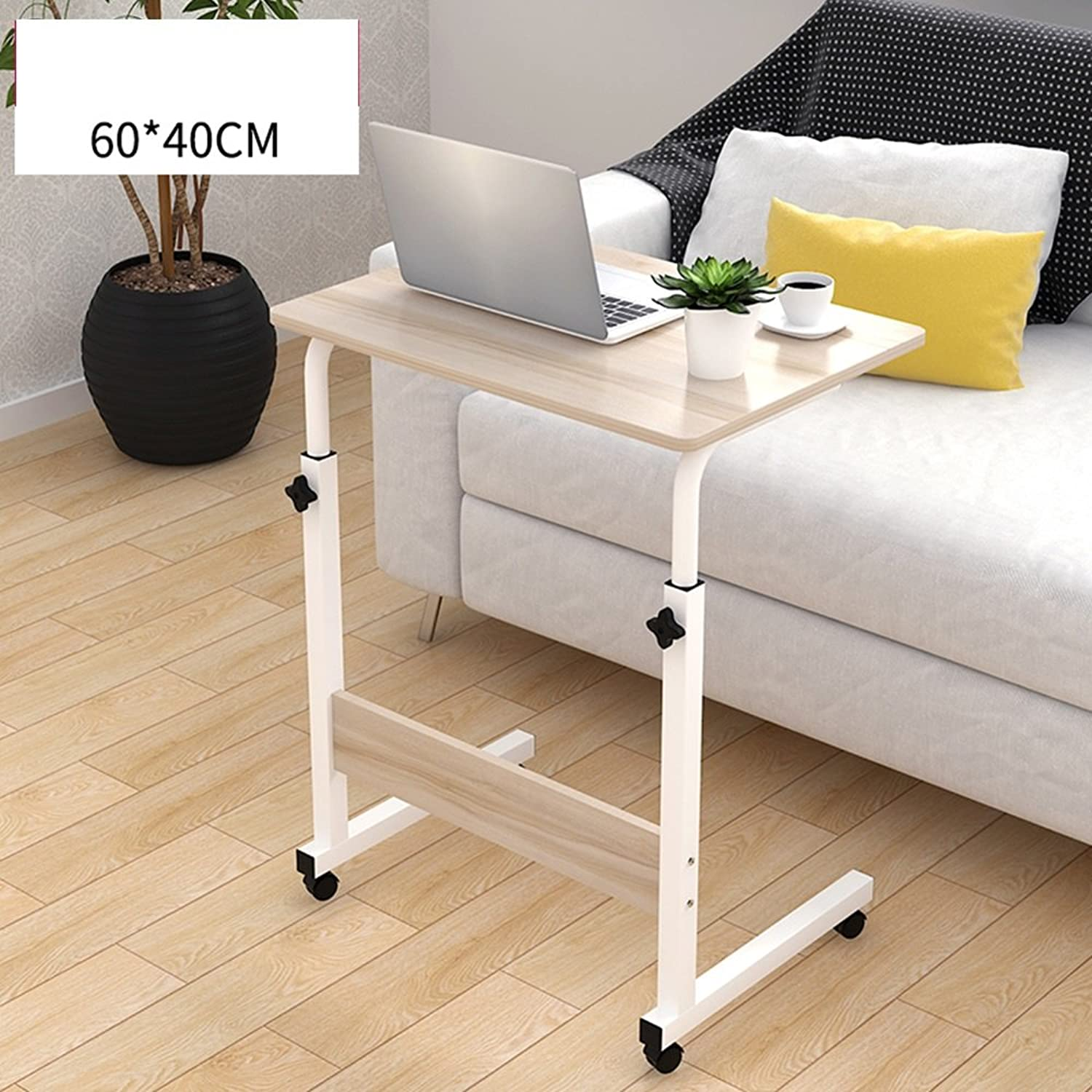 ZHIRONG Adjustable Overbed   Chair Table Movable Bedside Table Height-Adjustable Laptop Table Lazy Computer Stands Multi-function Table 604072-94cm , 804072-94cm ( color   D , Size   6040cm )