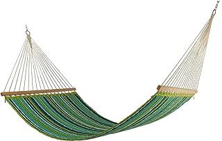 East Coast Hammocks Large Polyester Quilted Hammock - Royal Peacock Stripe