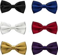 Tinta unita Regolabile Seta Nozze Smoking Natale Cravatta a farfalla AWAYTR Bambine Pre Legato Formale Cravatte