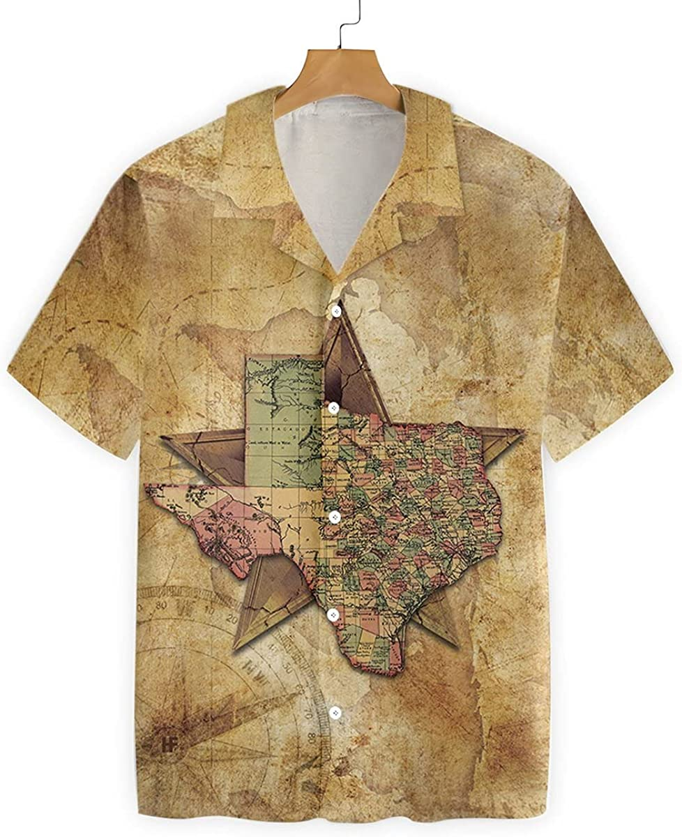 Golden Store US - Texas Map Nation Lone 2021 new Star Genuine Free Shipping Shirt Hawaiian The