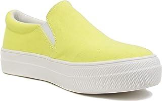 Soda TOPSHOE ave- Hike Platform Slip- On Sneaker w/Cushion Foam