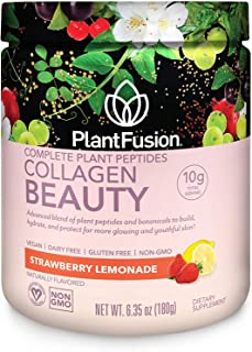 PlantFusion Collagen Beauty Plant Peptides Powder | Vegan Collagen Supplement for Skin Hydration, Elasticity, and More Glo...