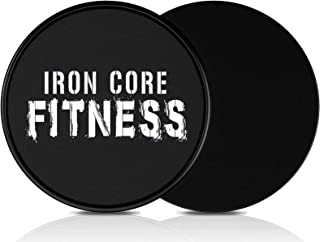 Iron Core Fitness 2 x Dual Sided Gliding Discs Core...