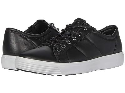 ECCO Soft 7 Premium Sneaker (Black/Concrete) Men