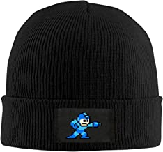 Knit Beanie Cap Hat Mega Man Pixel Video Game Robot Fashion Adult