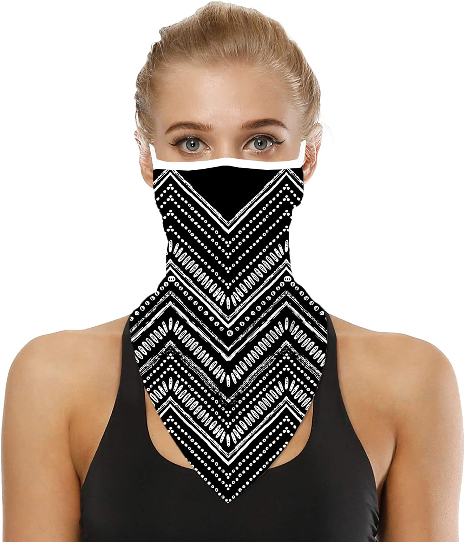 Custom Unisex Face Neck Gaiter with Ear Loop Reusable Washable Face Cover Bandanas Neck Warmer