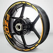 Gloss Orange Motorcycle Rim Wheel Decal Accessory Sticker For Yamaha FZ07