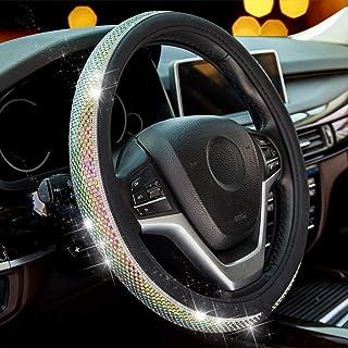 Sottile Antiscivolo ZATOOTA Coprivolante in Pelle Universale 37-38cm Senza Anello Interno Coprivolante da Auto Nero