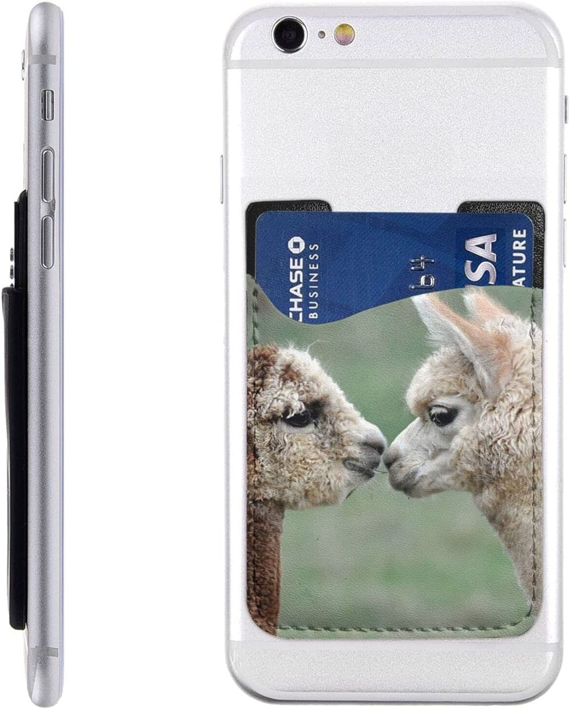 Funny Alpaca Phone Card Holder Latest Max 44% OFF item On Cell Wallet Stick S