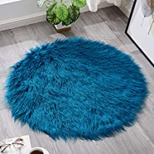 Round Cashmere Rug Bedroom Bedside Cold Warm Pad Living Room Sofa Coffee Table Mat Chair Cushion Carpet,2,90cm