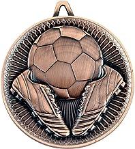 Lapal Dimension Voetbal Deluxe Medal - Brons 6,0 cm Pack van 10