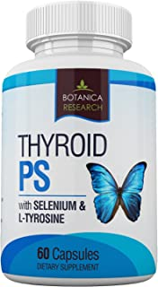 Thyroid Support Complex Supplement: All Natural Glandular System: Better Focus, Concentration, PS Hormone Balance Energy Boost - 60 Veggie Vitamin Capsules