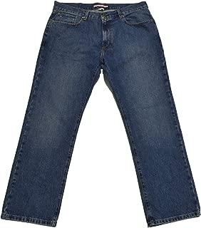 Mens Classic Fit Jeans (Medium Stonewash, 34x30)