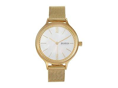 Skagen Anita Three-Hand Watch (SKW2907 Gold/White) Analog Watches
