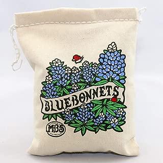 Bluebonnets - 1/2 lb Reusable Vintage Cotton Bag - Non-GMO, All Natural Seeds (7,250 Seed Count)