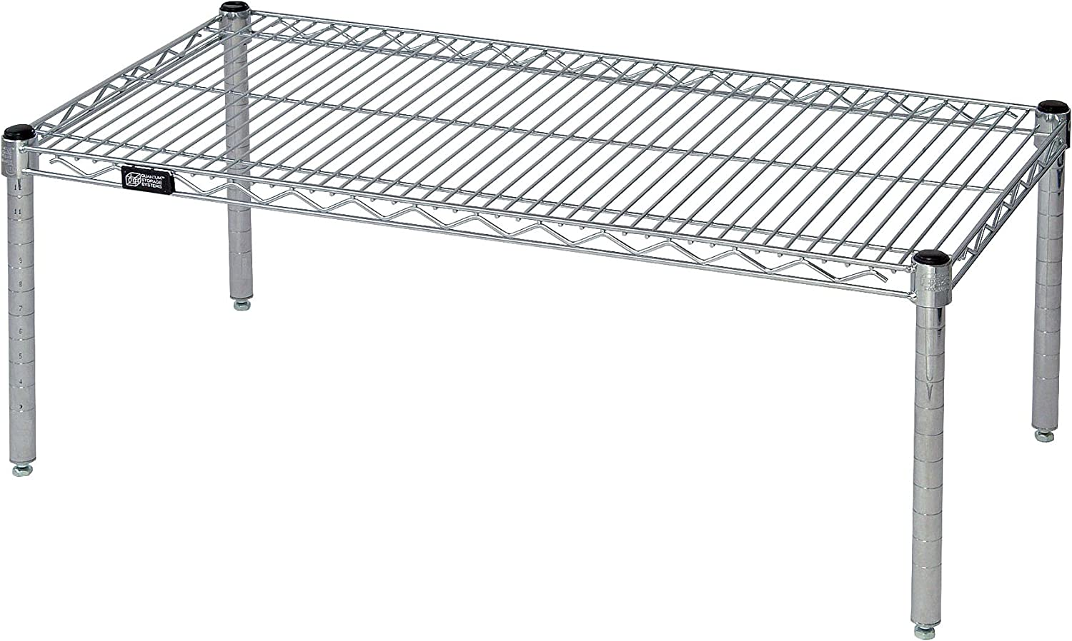 Quantum Storage Systems 243614PC Shelf Platform Rack, Chrome Finish, 24  Width x 36  Length x 14  Height