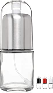 UPDATED Premium Glass bottle with Non-aerosol Olive Oil Mister and Cooking Sprayer with Clog-Free Filter by CHEFVANTAGE - Stainless Steel