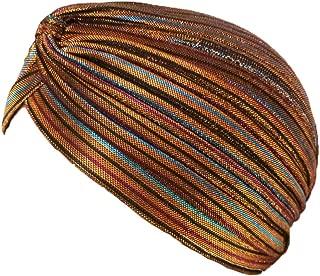 Fashion 21] Women's Perfect Fit Pleated Glittered Turban Hat Head Wear