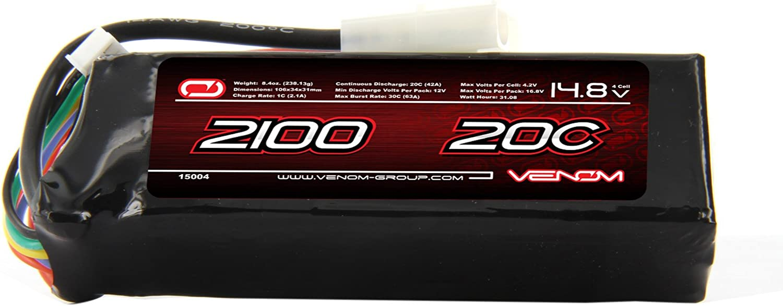 Venom 20C 4S 2100mAh 14.8 Starter Box LiPO Battery with Tamiya Plug